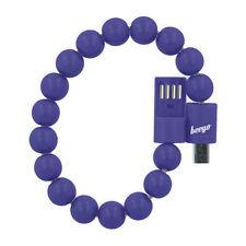 BEEYO CAVO DATI USB MICROUSB SMARTPHONE A FORMA DI BRACCIALE BRACCIALETTO BLU
