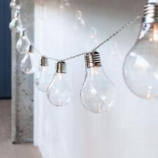 10 Edison Bulb Battery Operated Warm White LED Festoon Fairy Globe String Lights
