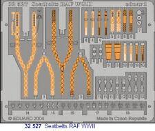 Eduard 1/32 RAF Segunda Guerra Mundial cinturones de seguridad pre-pintado en color! # 32527