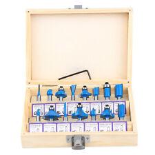 15Pcs Carbon Milling Cutter Router Bit Set Tungsten Carbide Router 1/4