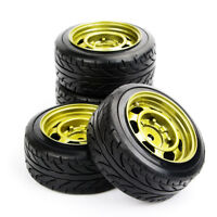 Tyres and Wheel Set (4pcs) For 1/10th Scale HPI HSP Drift RC Car PP0292+PP0147