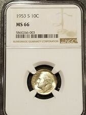 New listing 1953-S Ngc Ms66 Roosevelt Dime
