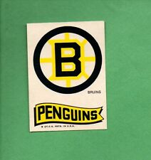 1973-74 TOPPS HOCKEY SET -  LOGO STICKER - BOSTON BRUINS / PITTSBURGH PENGUINS