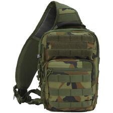 Brandit US Cooper Sling Pack One Strap Backpack Everyday Carry Bag Woodland Camo