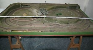 DDR TT Eisenbahnplatte mit viel Zubehör 164 cm x 103 cm