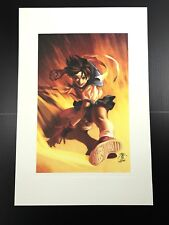 Street Fighter Sakura Kasugano Capcom Jo Chen Art Limited Edition Print Mint