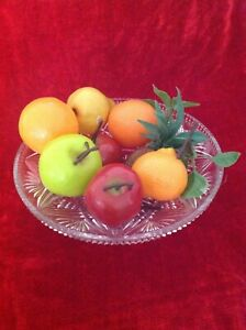 Realistic Fruit 9 Piece Lot Artificial Fruit Great Decorations for Home & Party