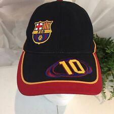 FCBarcelona Soccer Team Hat Number 10 Adjustable Strap OS Nwt