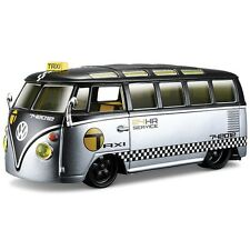 "New VW AS Volkswagen Van Samba Taxi Bus 1:25 ""All Stars"" Diecast Model Toy Car"