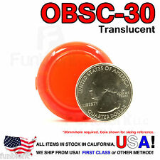 Sanwa Original OBSC-30 Red Translucent Push Button JAMMA guitar killswitch