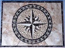 "28""x20"" Marble Floor Tile Mosaic  Medallion Design Stone Flooring piece#18c"