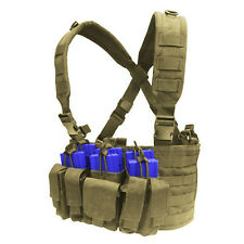 CONDOR MOLLE Nylon Tactical Recon Chest Rig Mag holder Vest mcr5-003 TAN