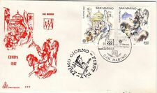 San Marino 1982 Europa SG 1179/80 FDC