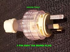3 PIN REWIREABLE BACK ENTRY PLUG 240V -10A  - NEW