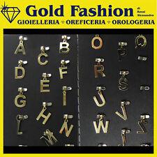 Pendente letterina in oro giallo 18K - lettere iniziali