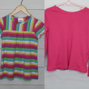 Girls' 120/130cm (US 7/8) Hanna Andersson Cotton Casual Shirts Lot of 2