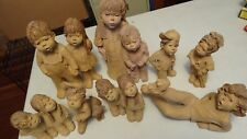 Lot of 8 Sculpture Figures LEE BORTIN ORIGINALS CLAY COLLECTION kids