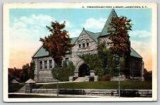 Prendergast Free Library in Jamestown, New York Early Postcard Unused