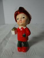 Vintage 50's Napco X7592 Christmas Red Head Hair Girl Caroler