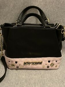 Betsey Johnson black and Pink handbag