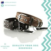 Designer Leather Dog Collar Double Lined Genuine Hunter Sansibar Special Edition