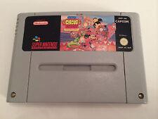 Super Nintendo snes jeu-the Great Circus Mizusawa Mickey & Minnie