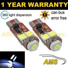 2x W5W T10 501 Errore Canbus libero white CREE LED Numero Targa Lampadine np104502