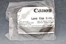 NOS GENUINE CANON E-58 LENS CAP 58MM MADE IN JAPAN - FREE USA SHIPPING