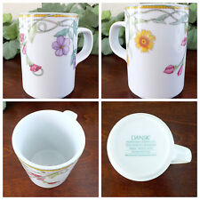 Dansk Tivoli Gardens Coffee Mug Tea Cup Floral China Dinnerware 10 oz Retired