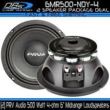 "2 PRV Audio 6MR500-NDY-4 6"" Neodymium Car Pro Mid Range Loud Speaker 1000W 4-ohm"