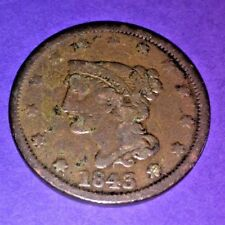 1843 LARGE CENT -Braided Hair-Mature Head, 175 YEARS OLD -#lb.nn