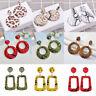 Vintage Women Snakeskin Geometric Long Dangle Earrings Fashion Jewelry 1Pair