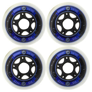 Ground Control 80mm/85A Inline Skate Wheels 4-Pack