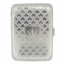 Metal Engraved Cigerete Case.. Holds 16 Cigarettes Silver Design Cigaret Case