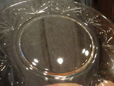 "Plate Dish Salad Breakfast Ornate Design Clear Glass Cut (4) 7-3/4"" w Vintage"