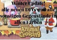 Animal Crossing NH🎁 Winter Update alle neuen Anleitungen + Items alle Farben