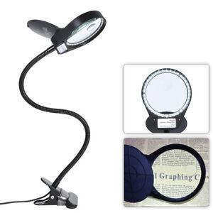 Tomshine LED 3X / 10X loupe verre avec pince Clip lampe de bureau Lampe de