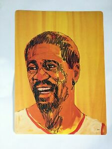 Vintage 1975 Boston Celtics Bill Russell Cardboard Poster