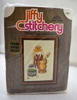 "Jiffy Stitchery Crewel Kit ""Spices"" by Sunset Designs - Fits 5""x7"" Frame - 1990"