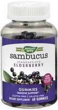 Nature's Way Sambucus Elderberry 60 Ct Gummy Triple Action Immune Blend Zinc & C