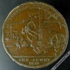 19th Century Penny Token Withymoor 1215 1813 Scythe Works / Jas Griffin & Sons.