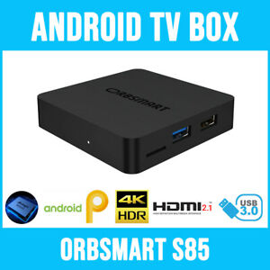 Android TV Box Orbsmart S85 (4K/UHD inkl. HDR10+) / Mini-PC / MKV Mediaplayer