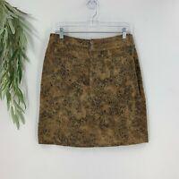 Chico's Womens Straight Pencil Skirt Size 1.5 M Animal Print Knee Length Cotton