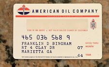 1964 American Gas Oil Credit Card