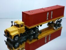 CORGI TOYS MACK TRUCK + CONTAINER TRAILER ASL - YELLOW 1:50? - GOOD  CONDITION