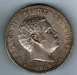1899 Portugal 1000 Reis silver coin : 25.1g