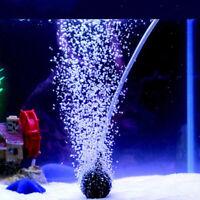 Aquarium`bubble air stone aerator fish tank pond pump hydroponics disk diffusBHQ