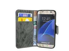 BOOK-Style Zubehör Hülle Etui Tasche Case für Samsung Galaxy S7 G930F Anthrazit