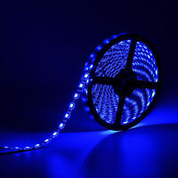 Blue 5M 16.4ft 300Leds 5050 SMD LED Strip Light Black PCB waterproof