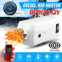 12V 8KW Diesel Air Heater w/Newest Red Remote Control For Truck Car Boat  &W